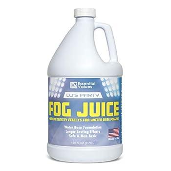 Fog Machine Fluid – MADE IN USA – Fog Juice that Produces Long-Lasting Medium Density Fog for Water-Based Foggers Perfect for 400 Watt to 1500 Fog Machines