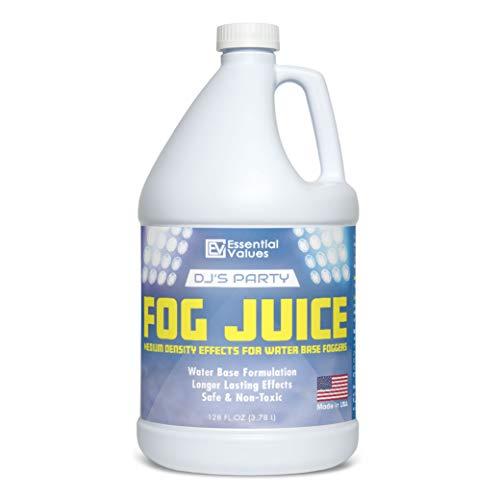 Fog Machine Fluid – MADE IN USA – Fog Juice that Produces Long-Lasting Medium Density Fog for Water-Based Foggers, Perfect for 400 Watt to 1500 Fog Machines