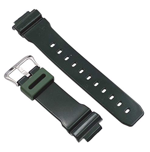Casio #10332043 Genuine Factory Replacement Band for Colorful G Shocks - DW6900CC-3V (Green)