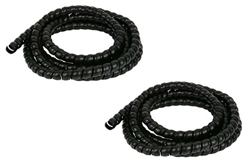 """TEMCo ST0481-2 pc 5/8"""" Hydraulic Hose Spiral Wrap 10 ft Wire Protector Cover Guard Cable Organizer - 1 Year Warranty"""