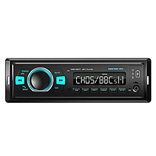Milkvetch Coche Radio EstéReo 1Din FM Audio Unidad Principal Reproductor Dab / MP3 / / USB/AUX