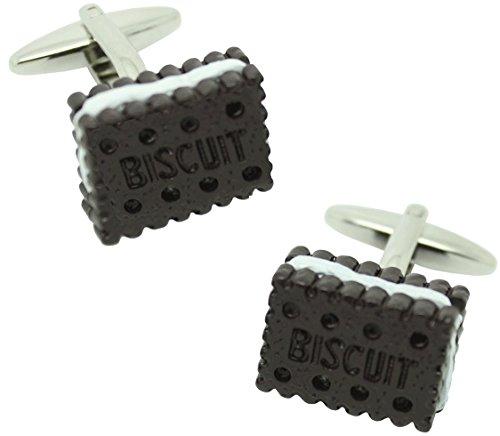 masgemelos Manschettenknöpfe Keks Biscuit Cufflinks