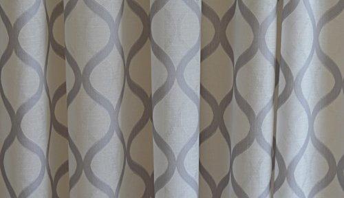 Gordijnen met patroon. grijs. Aanbieding MT 3,20