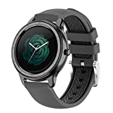 XYZK 2021 New Smart Watch Men's y Women Smart Watch Information Push Full Touch Sports Fitness Smart Watch para iOS Android,A