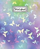 Butterfly sketchbook: Penguin Butterfly Lover Sketchbook For Men, Women, Girls, and Kids Sketch Drawing Book - 7.5 x 9.25 Inches - 120 Pages.
