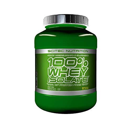 Scitec Nutrition 100% Whey Isolate con L-glutamina adicional, 2 kg, Plátano