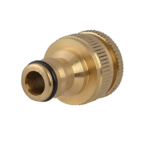 Faithfull Brass Dual Tap Connector 1/2In & 3/4In