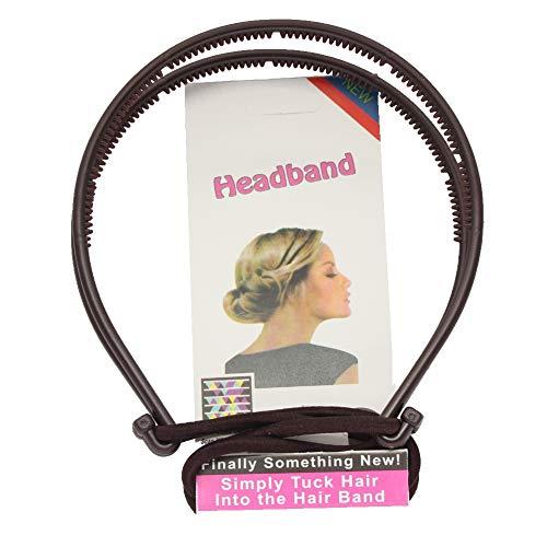 lecoolz Frisurenhilfe Styling Haarreif Haarschmuck Elastisch Farbe Braun
