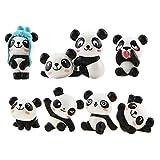 LHKJ 1 Lot de 8 pcs Mini Animal Miniature Panda Décoration,Mignon Jouets Figurines Décoration,DIY Jardinage poupée