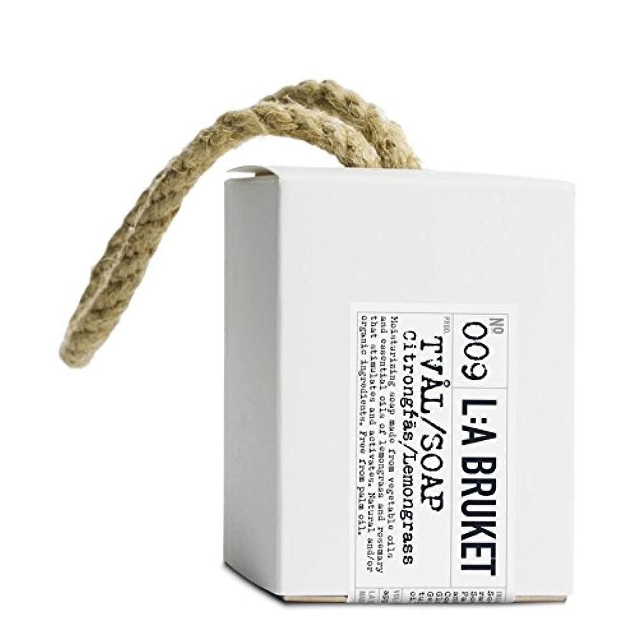 石膏地上の拡声器L:A Bruket Lemongrass Soap on a Roap 240g - :の240グラムののレモングラス石けん [並行輸入品]