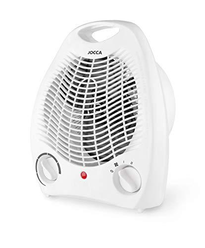 Jocca - Calefactor Eléctrico de aire caliente 2000W | Calefactor Estufas Baño | Función calor y ventilador | 2 velocidades | Asa para facilitar transporte