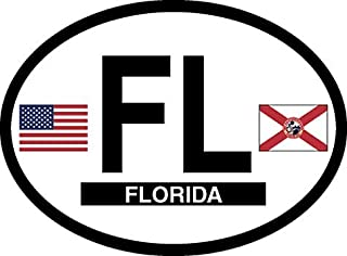 Florida oval decal for auto, truck or boat