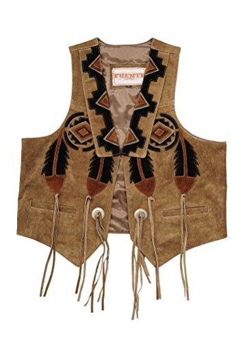Fuente Leather Wears Chaleco de piel para hombre, chaleco de piel para traje regional, chaleco de caza, chaleco de piel en marrón claro y negro marrón claro L