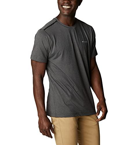 Columbia Men's Tech Trail Crew Neck Shirt, Wicking, Sun Protection, Shark, Large