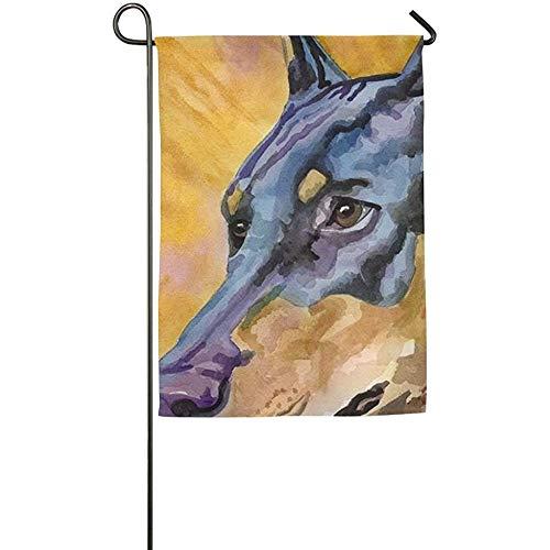 N / A Online Dobermann Dog Animal Fall Lawn Yard House Banderas de jardín 12.5 'x 18 Todo el Tiempo Poliéster Decorativo