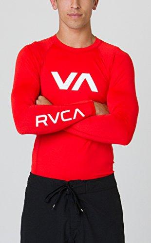 RVCA Men's VA Rash Guard, Lava, Large