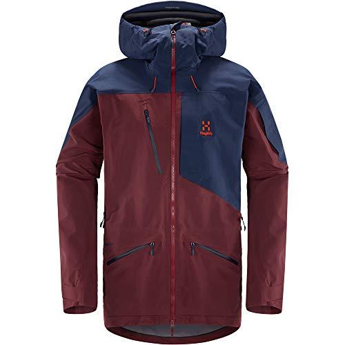 Haglöfs Herren Nengal 3L Proof Jacket, Aubergine/Tarn-Blau, Small