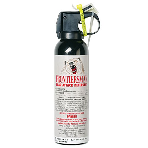 SABRE Frontiersman Bear Spray 7.9 oz (Holster Options & Multi-Pack Options) — Maximum Strength, Maximum Range & Greatest Protective Barrier Per Burst! — Effective Against All Types of Bears, 7.9 oz Canister
