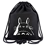 WANHONGYUE My Neighbor Totoro Anime Mochila de Cuerda Bolsas de Gimnasia Deporte Gymsack Sackpack Nu...