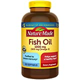 Nature Made Fish Oil 1,000 mg Softgels, 320 Count for Heart Health†