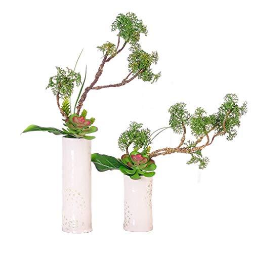 Bonsai Las plantas en maceta de plástico artificial, mini Faux Planta con blanco macetas de decoración de interiores falso turística Planta for el hogar y la oficina de escritorio Decoración Árbol bon