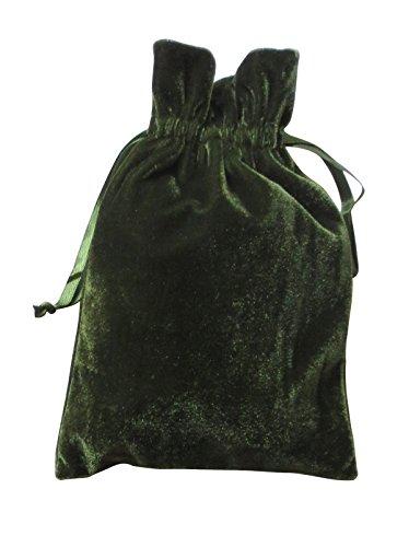 Paper Mart Velvet Bags (Moss Green)