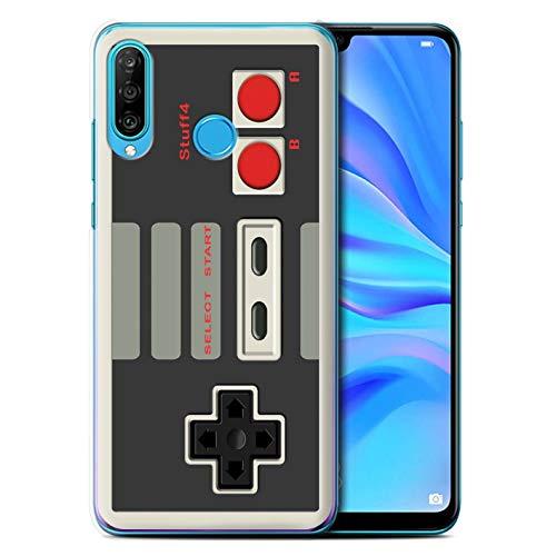 Hülle Für Huawei P30 Lite 2019 Spielkonsolen Klassisches Nintendo Design Transparent Ultra Dünn Klar Hart Schutz Handyhülle Case
