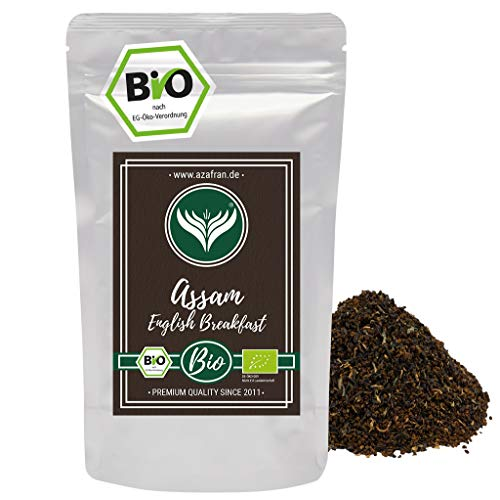 Azafran BIO Assam Schwarzer Tee - English Breakfast Tea - Ostfriesentee 250g