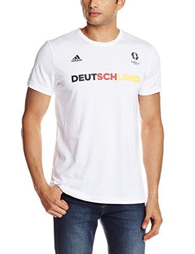 adidas Herren T-Shirt Deutschland Graphic, White, L