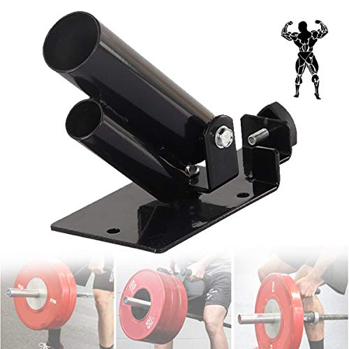 Olympic Bars T Bar Rows, Back Exercise Barbell Attachment for Deadlift Leg Squat Workout,Black