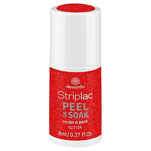 alessandro Striplac Peel or Soak Joy is back – LED-Nagellack in Pink-Rot – Für perfekte Nägel in 15 Minuten – 1 x 8ml