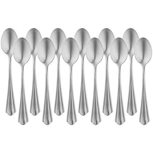 Amazon Basics - Juego de 12 cucharillas de café de acero in