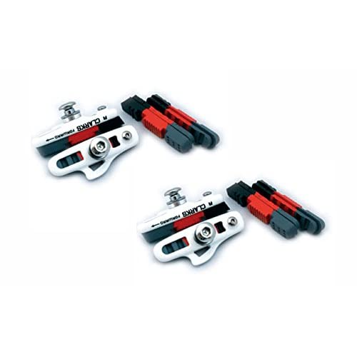 Clarks CPS240 55mm Road Caliper Brake Shoe with 4 Pads for Shimano Avid Tektro