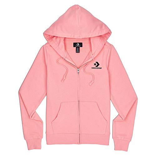 Converse Star Chevron EMB FZ Damen Hoodie Full Zip rosa, Bekleidungsgröße:XXL