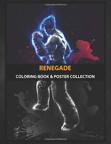 Coloring Book & Poster Collection: Renegade Jin Kazama Tekken Renegade Gaming