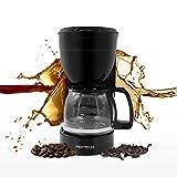 Cafetera de filtro con jarra de cristal, 800 W, 12 tazas, para café molido, soporte de filtro extraíble para el...