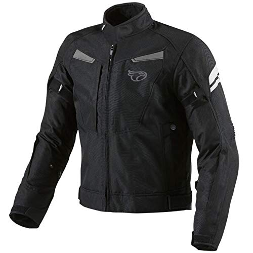 "Chaqueta Jet Motorcylce Motorbike multi-funcional, negro, hombre mujer, negro, L (40"" - 42"")"
