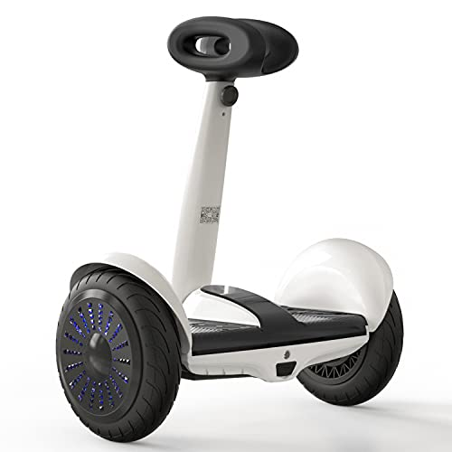 Hiboy Self-Balancing Electric Scooter with Steering Bar, Smart J5 Hoverboards with APP Control, White and Black