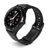 YASF- Smart Watch, fitness tracker Bluetooth 5.0 con contapassi, cardiofrequenzimetro, monitoraggio del sonno, per telefoni Android e iOS versione 2019 IP68 impermeabile (colore: nero)