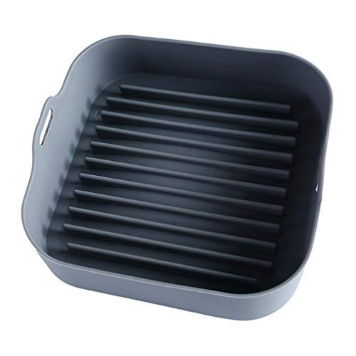 Angoily Freidora de Aire Olla de Silicona Reutilizable Resistente Al Calor Freidoras de Aire Horno Pergamino de Papel de Reemplazo de Alimentos de Calefacción Cesta de Cocina Gadget para