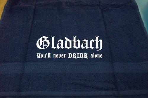 ShirtShop-Saar Gladbach - You'll Never Drink Alone; Handtuch, dunkelblau