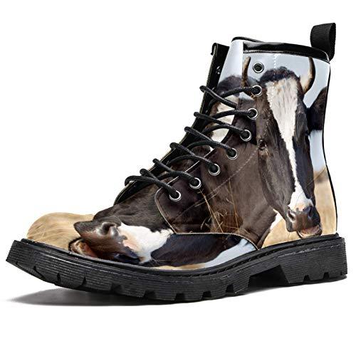 Lorvies Rancho Rancho Stiefel für Herren, Schnürschuhe aus Leder, lässig, - mehrfarbig - Größe: 42.5 EU