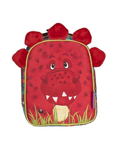 okiedog wildpack junior 86022 isolierte Brotzeittasche mit PlüschohrenDINO, rot