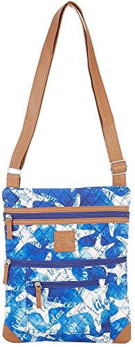 Stone Mountain Starfish Lockport Handbag One Size Blue/white
