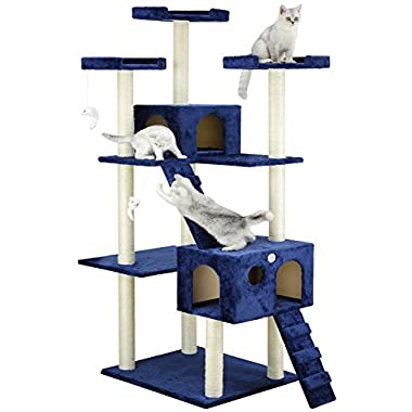 Go Pet Club Cat Tree, 50W x 26L x 72H, Blue