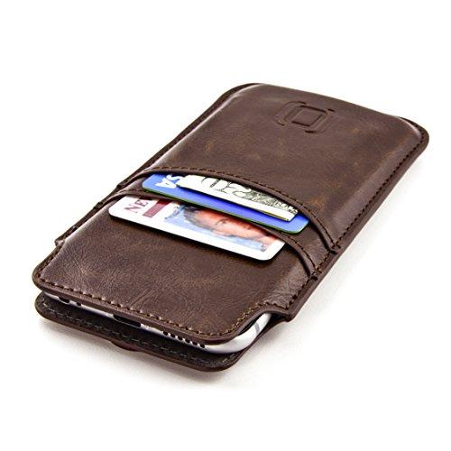 Dockem Estuche Cartera para iPhone 12 Mini, iPhone SE 2020, iPhone 8, 7, 6 y 6S - Funda Tarjetero de Piel Sintética Vintage: Funda Ultra Slim Profesional Ejecutiva con 2 Ranuras para Tarjetas,