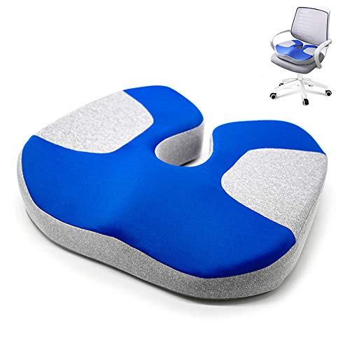 FJLOVE Orthopedic Memory Foam Seat Cushion for Sciatica Back Pain Coccyx Cushion for Car Wheelchair Computer and Desk Chair