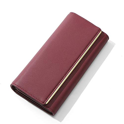 BECCYYLY Ladies Walletladies Wallet Wallet Card Bag Large Capacity Wallet Soft Leather Long Wallet