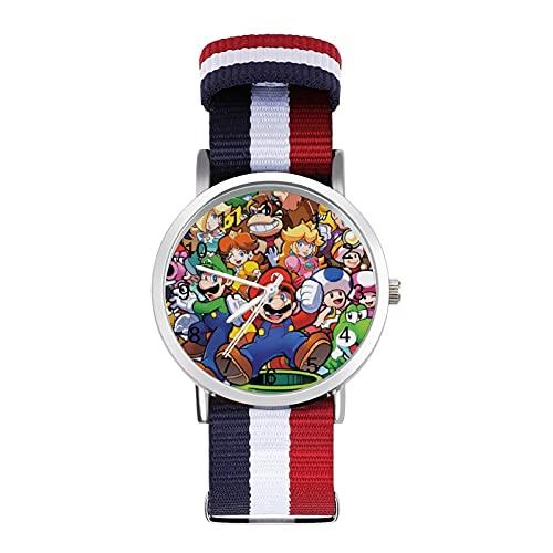 Reloj de ocio para adultos de moda, ajustable, con estilo, espejo de cristal, casual, deportivo, para hombres y mujeres, para Legend Zelda Super Mario reloj de ocio para adultos