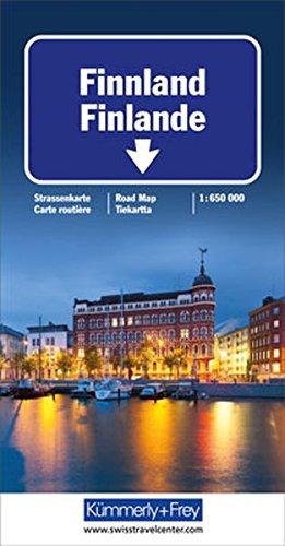 Finnland Strassenkarte: Massstab 1:650 000 (Kümmerly+Frey Strassenkarten)